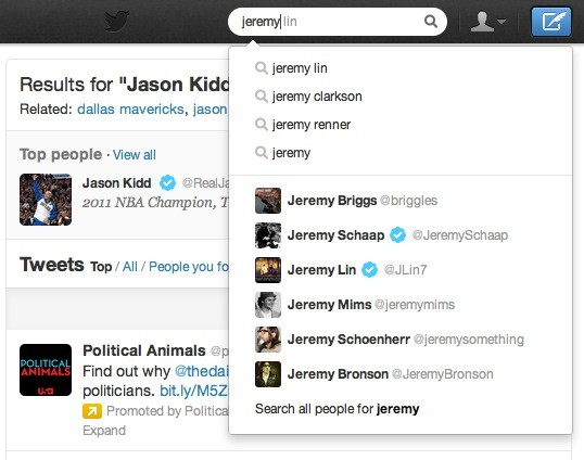Twitter brings search autocomplete to the web, helps find Biebs tweets in record time 
