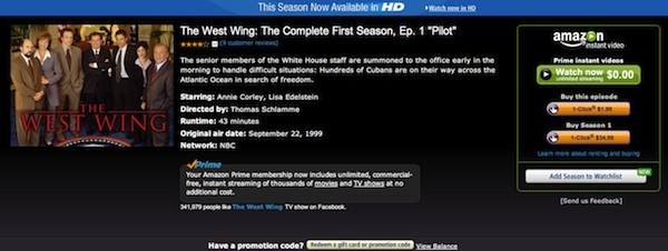 Amazon deal brings Warner TV shows including Fringe, The West Wing to Prime Instant Video exclusively