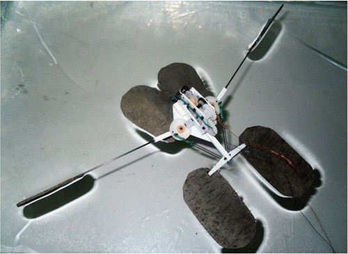 Water jumping microbot proves anything bugs can do, robots can do too