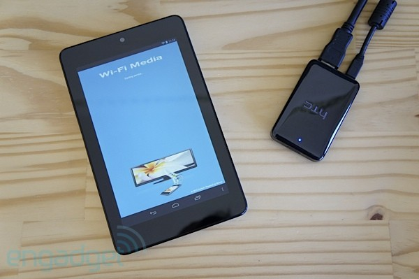 WiFi Media lets your Nexus 7 play movies on any screen via HTC's Media Link HD handson video