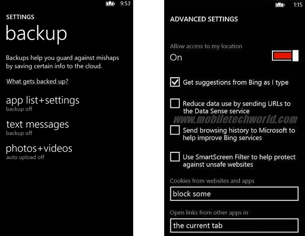 Windows Phone 8 SDK leak shows us big backup, browser and Xbox revamps