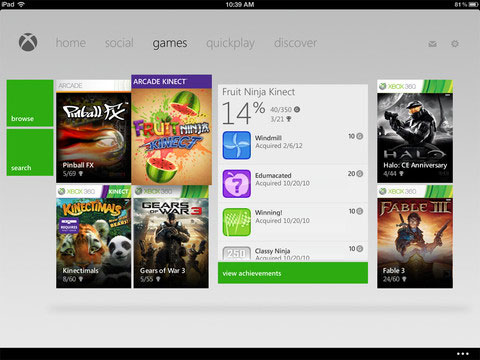 My Xbox LIVE app adds iPad support in 16 update