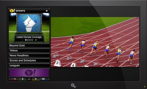 Yahoo show off Beyond Gold Olympics app for its connected HDTVs