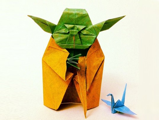 DNP Inhabitat's Week in Green origami Yoda, highspeed rail line and a self powered building