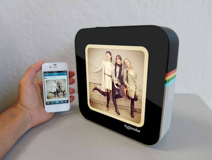 Insert Coin Instacube is a hip, Androidbased photo frame for your Instragram feeds