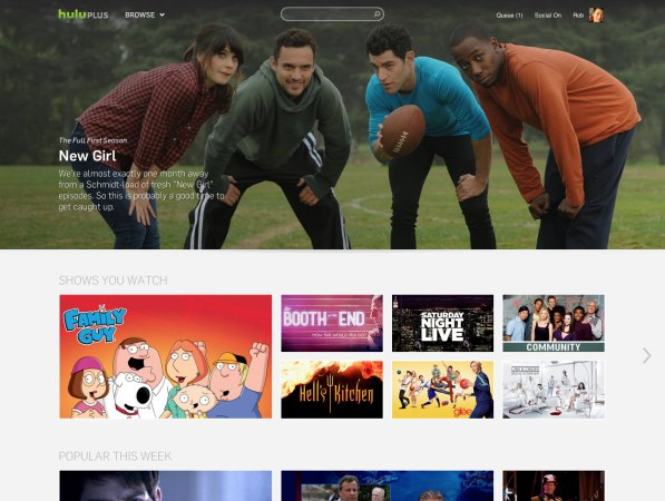 Hulu launches redesigned site with bigger artwork, 'traystyle format' of suggested shows