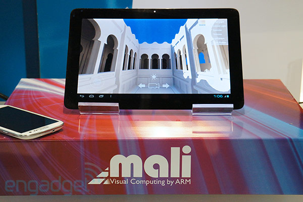 DNP ARM's MaliT604 makes its official device debut, we get a first look at the nextgen GPU handson video