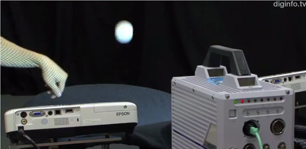 Researchers measure objects using just a camera and projector, can tell if you've ironed your shirt video
