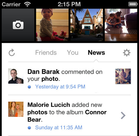 Facebook Camera update 11 adds notifications, lets you pick and choose albums