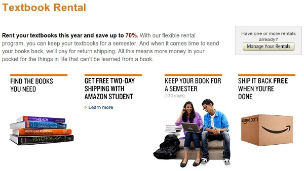 8 6 2012amazontextbooksrent Amazon begins renting paper textbooks