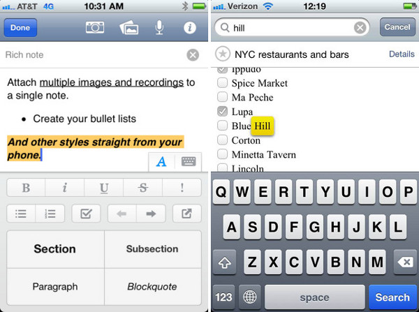 Evernote updates for iOS, adds tap anywhere to edit