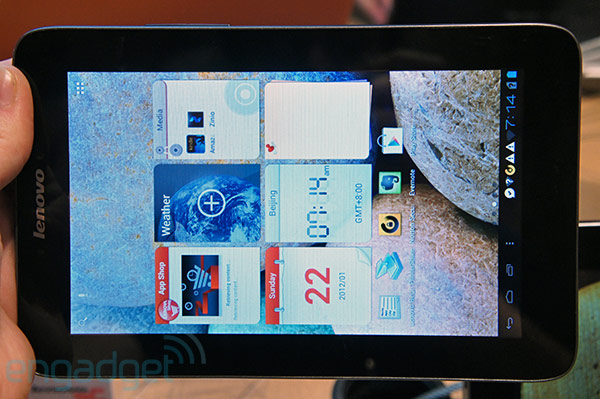 Lenovo IdeaTab A2107 gets formal unveiling at IFA 2012 a ruggedized, 7inch Android 40 slate handson photos