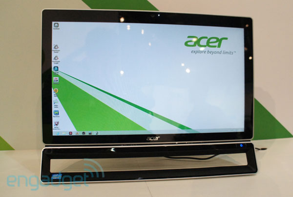 Acer Aspire ZS600 AIO announced at IFA 2012 23inch multitouch Windows 8 PC