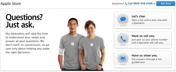 Apple brings Geniuses online, lets us ask questions before we buy