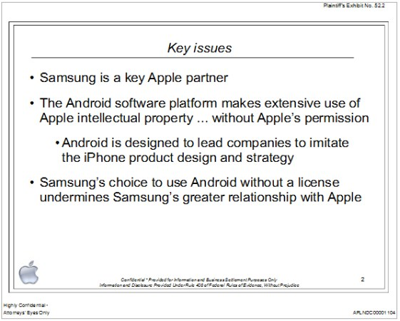 Apple reveals 2010 presentation to Samsung on Android patent infringement, licensing offer