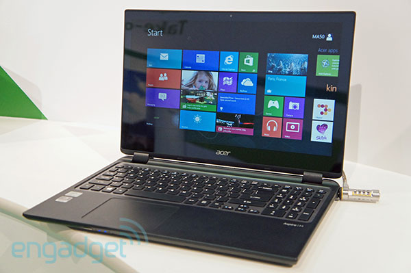 Acer announces Aspire M3 and Aspire V5 laptops with touchscreens