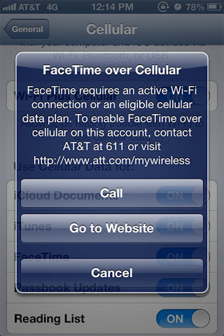 AT&amp;T confesses its network couldn't handle unchecked FaceTime over cellular