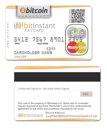 BitInstantbacked BitCoin debit card to launch within next two months