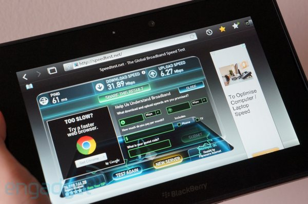 BlackBerry PlayBook 4G LTE handson