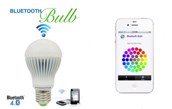 Bluetooth Bulb lets you switch on, time, dim and color your lighting with your phone video