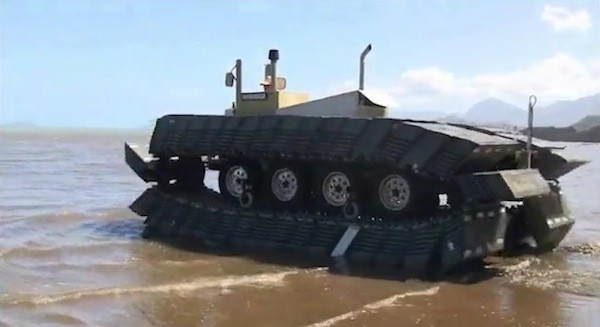 DARPA's Captive Air Amphibious Transporter can drive on water, help during disaster relief video