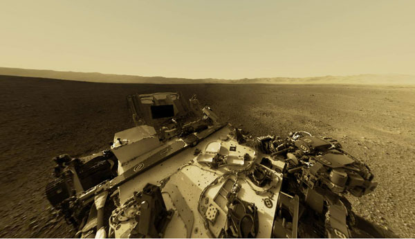 Visualized Mars' Gale Crater in seemless 360 degrees