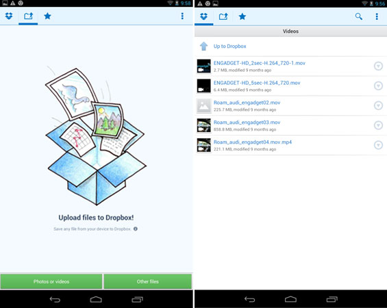 Dropbox Android preview shows off video thumbnails and Nexus 7 UI, yearns for your approval
