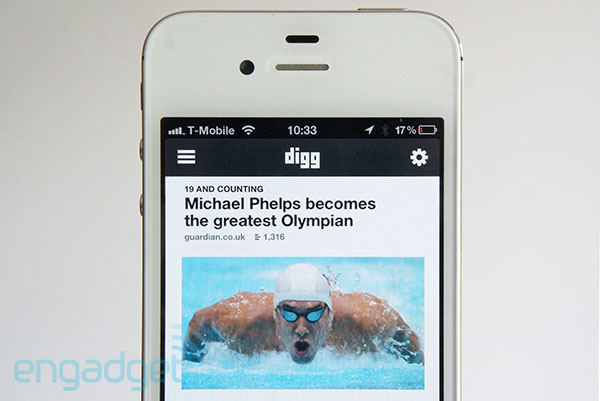 Digg iOS app gets redesigned, downloads stories before you leave the house