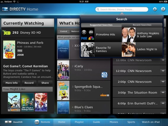 DIRECTV updates iPad app, HR34 DVR with tktkt