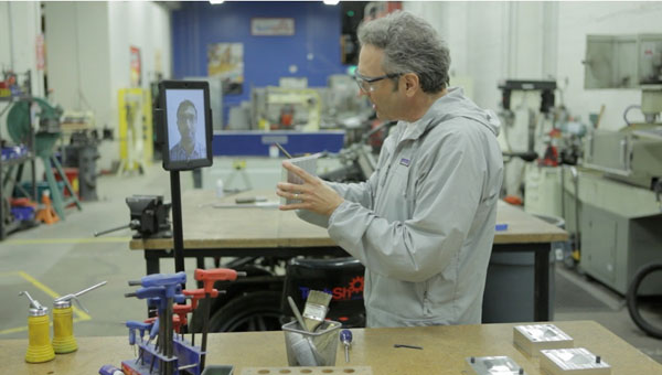 Double Robotics' 'Double' turns two tablets into teetering telepresence trolly video