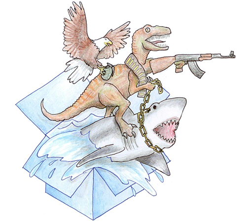 Dropbox eagle velociraptor shark isn't this awesome