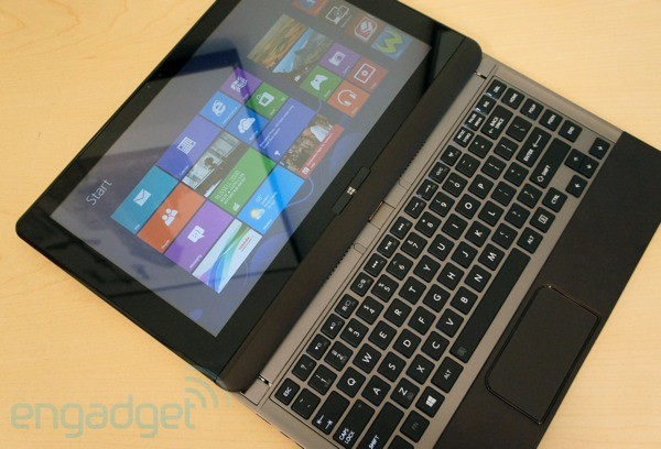 DNP EMBARGO Toshiba unveils U925t Ultrabook with slideout touchscreen, keeps the price a secret for now
