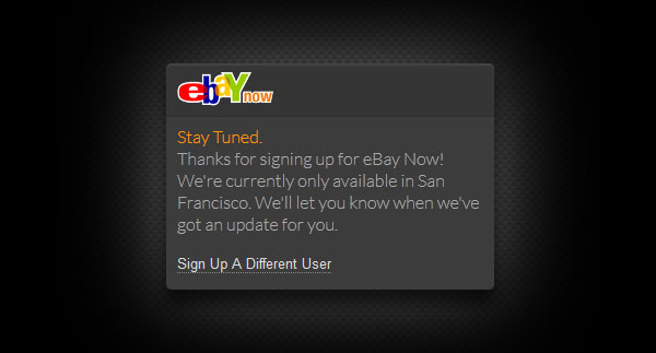 eBay Now to offer sameday shipping from local stores, launching beta in San Francisco