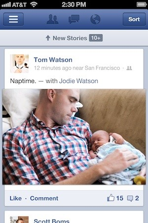 Facebook updates iOS app, says it's now twice as fast