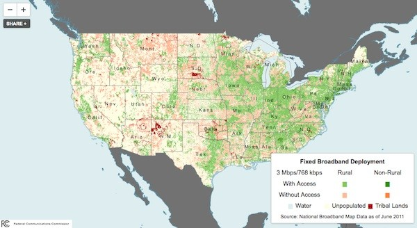 FCC releases interactive Broadband Progress Report map