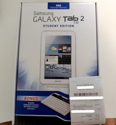 Best Buy sells Galaxy Tab 2 70 Student Bundle ahead of scheduele