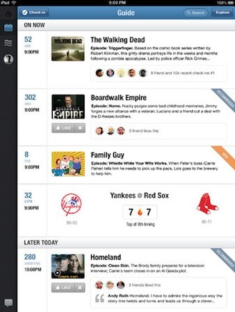 GetGlue for iPad hits version 30 adds personalized guides, show recommendations and alerts