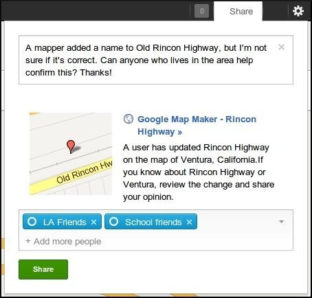 Google Map Maker adds Google sharing for communal world building