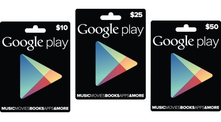 Google officially announces Google Play gift cards, now rolling out to Target, Radio Shack and GameStop