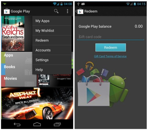 Updated Google Play app reveals gift card support, wish list coming soon
