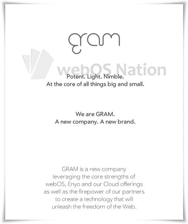 DNP webOS business unit becomes GRAM, other info under wraps