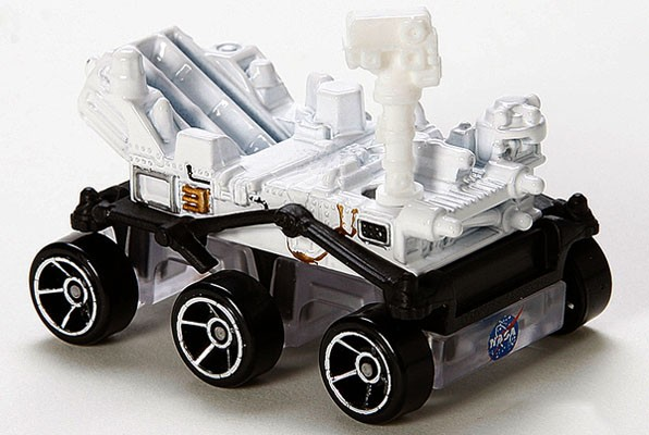 Mattel casts die with NASA Curiosity rover Hot Wheels toy