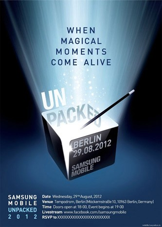 Save the date Samsung starts sending out Mobile Unpacked 2012 invites