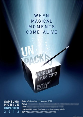 Save the date Samsung Mobile Unpacked 2012 IFA event set for August 29th