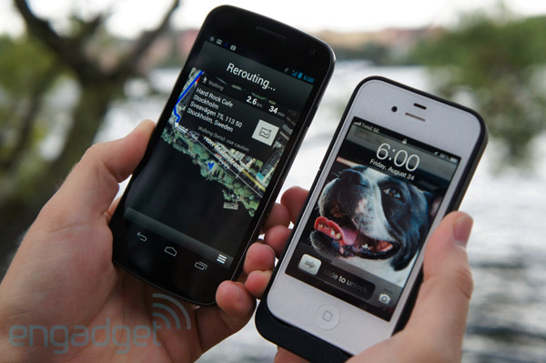 iPhone 4S and Galaxy Nexus