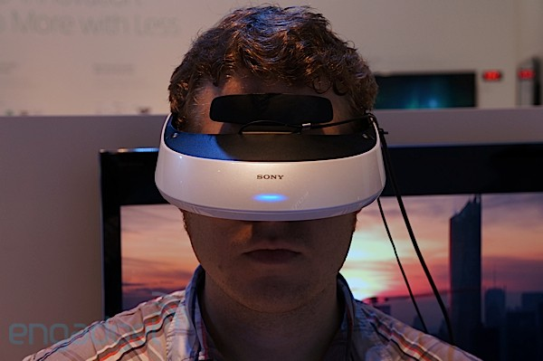 Sony HMZT2 3D display, headsin