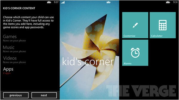 Kid's Corner uncovered for Windows Phone 8 a customizable, simplified launcher for rug rats