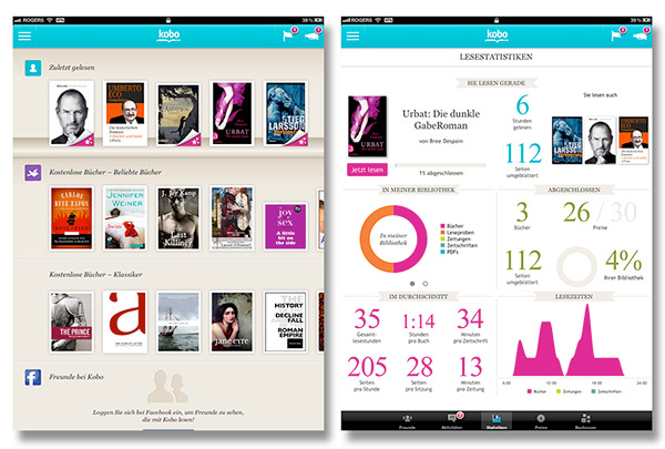 Kobo app for iOS goes international with support for French, German, Italian, Spanish and more