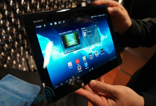 Sony Xperia Tablet S handson video