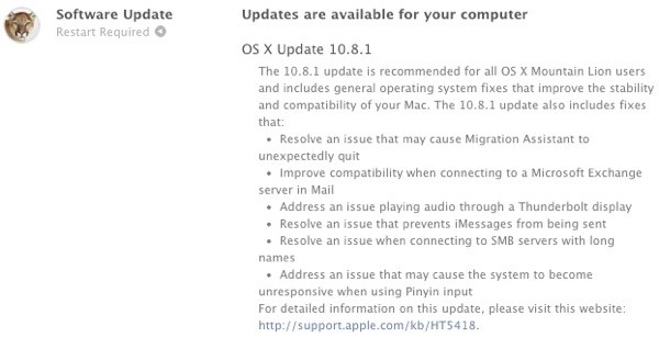 Apple posts OS X 108, mends your Mountain Lion